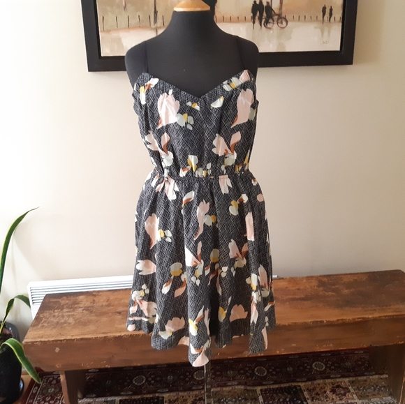 Urban Outfitters Kimchi Blue black floral dress